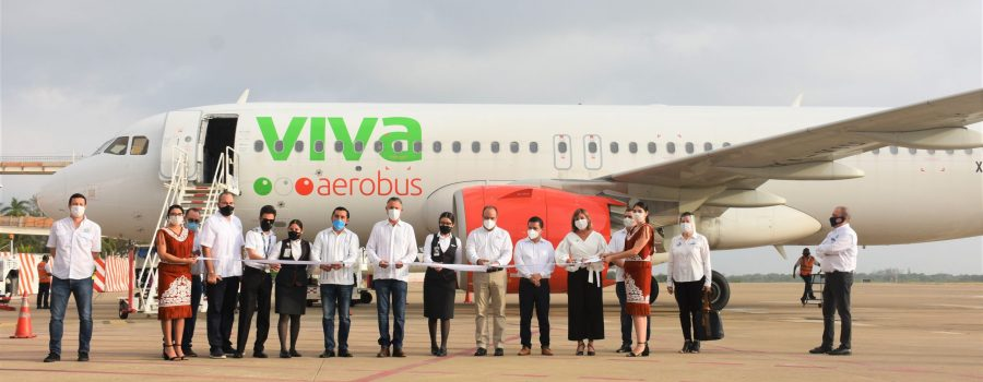 Tampico recibe vuelo inaugural de Viva Aerobus