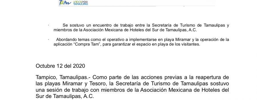 Comparte Turismo Tamaulipas protocolos de reapertura en playas del sur