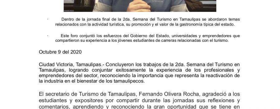 Fortalece Gobierno de Tamaulipas reactivación del Turismo en beneficio de sus familias