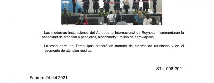 Tamaulipas cuenta con nueva terminal aérea en Reynosa
