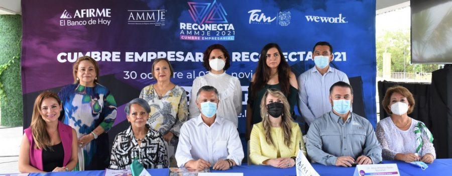 Presentan en Tampico la Cumbre Empresarial Reconecta AMMJE 2021